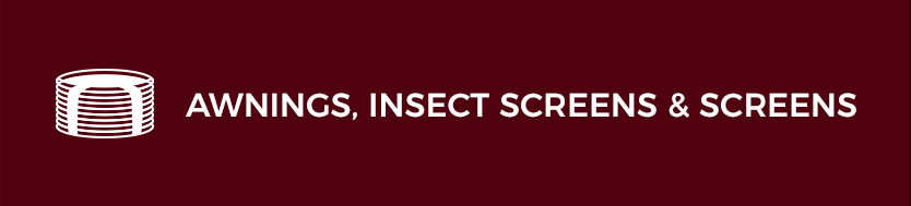 Awnings Insect screens and screens Roffelsen